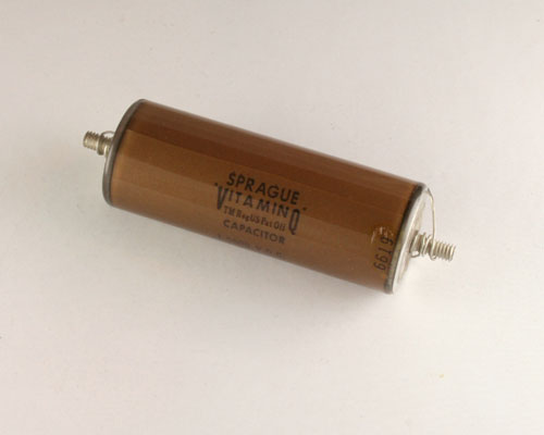 Picture of 205P96 SPRAGUE capacitor 0.1uF 5000V Glass Axial