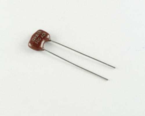 Picture of DM15FD1250JO3 ADI capacitor 125pF 500V Silver Mica Dipped