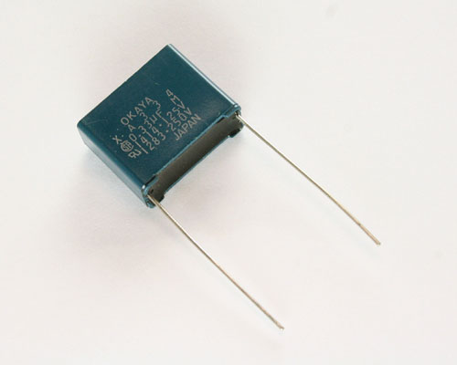Picture of XA334 OKAYA capacitor 0.33uF 250V Film Radial