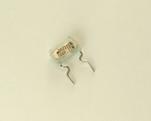 Picture of 222J01MF400 ITW capacitor 0.0022uF 100V Film Metallized Polyester Radial