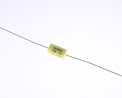Picture of AF474K250V EFC WESCO capacitor 0.47uF 250V Film Metallized Polyester Axial