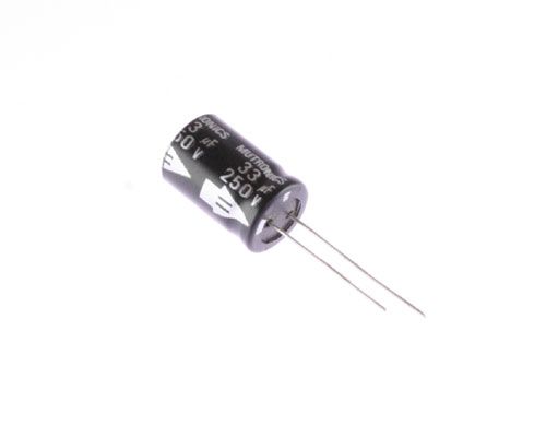 Picture of CERF-250V330MTR BYAB capacitor 33uF 250V Aluminum Electrolytic Radial