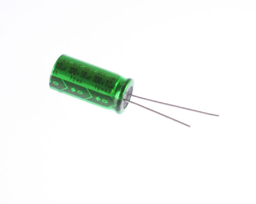 Picture of ER106M100V10X20110 TOWA capacitor 10uF 100V Aluminum Electrolytic Radial High Temp