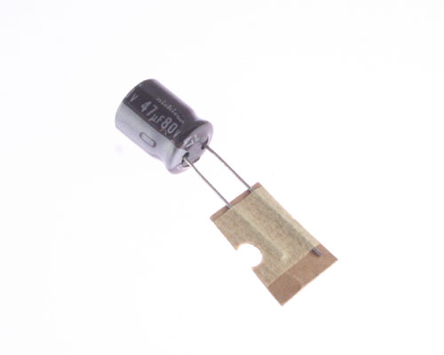 Picture of UPF1K470M NICHICON capacitor 47uF 80V Aluminum Electrolytic Radial High Temp