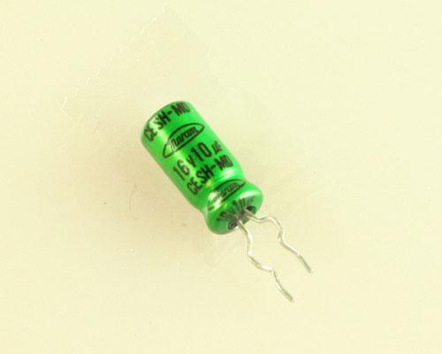 Picture of CESHM1C100M MARCON capacitor 10uF 16V Aluminum Electrolytic Radial