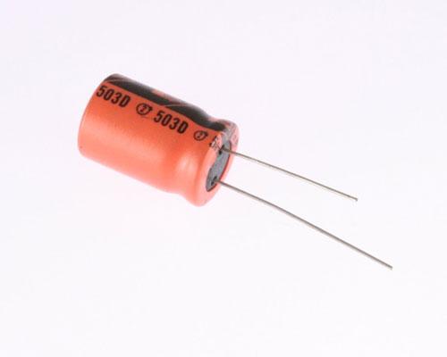 Picture of 503DL686M063 SPRAGUE capacitor 68uF 63V Aluminum Electrolytic Radial