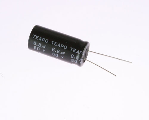 Picture of SR050M6R80ST2 TEAPO capacitor 6.8uF 50V Aluminum Electrolytic Radial