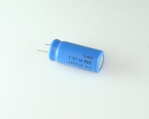 Picture of 672DX172U020ET5C SPRAGUE capacitor 1,700uF 20V Aluminum Electrolytic Radial