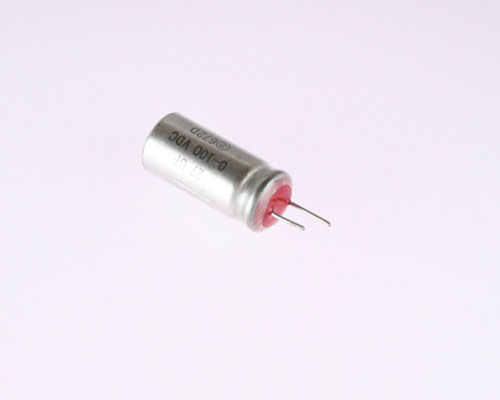 Picture of 672D276 SPRAGUE capacitor 27uF 100V Aluminum Electrolytic Radial