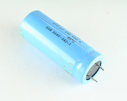 Picture of 366JP201U250BE SANGAMO-CDE capacitor 200uF 250V Aluminum Electrolytic Radial