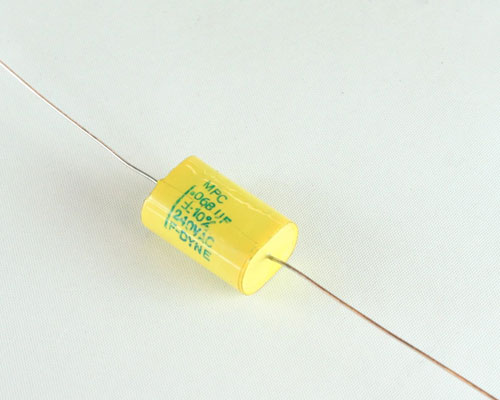 Picture of MPC-.068-240-10 F-DYNE capacitor 0.068uF 240V Film Metallized Polycarbonate Axial