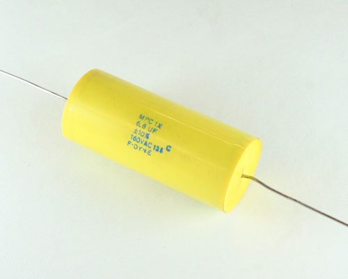 Picture of MPC1X-6.8-160-10 F-DYNE capacitor 6.8uF 160V Film Metallized Polycarbonate Axial