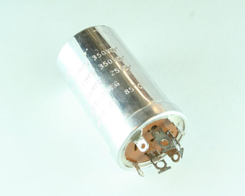 Picture of 10816129 BYAB capacitor 40uF 350V Aluminum Electrolytic Large Can Twist Lock