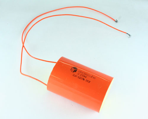 Picture of C2344 ELECTROCUBE capacitor 2uF 1000V Film Radial