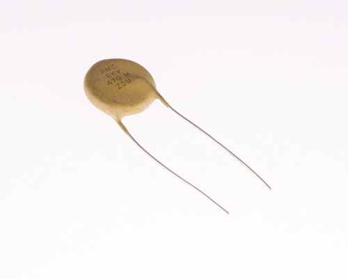Picture of 6HU347 MALLORY capacitor 470pF 6000V Ceramic Disc
