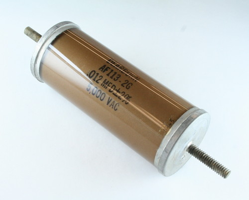 Picture of AF113-2G DEARBORN capacitor 0.012uF 5000V Glass Axial