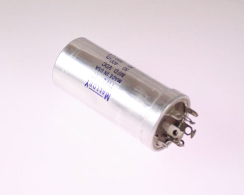 Picture of TYPE FP MALLORY capacitor 50uF 400V Aluminum Electrolytic Large Can Twist Lock