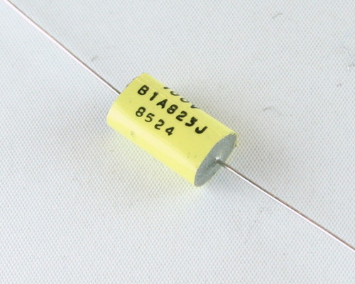 Picture of B1A823J ELPAC capacitor 0.082uF 100V Film Metalized Polycarbonate Axial