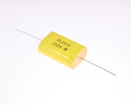 Picture of AM106K250V BYAB capacitor 10uF 250V Film Metallized Polyester Axial