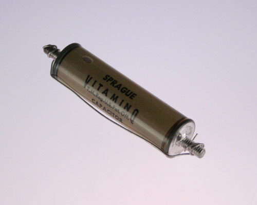 Picture of 205P140A SPRAGUE capacitor 0.0024uF 10000V Glass Axial