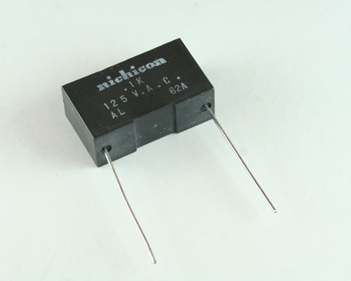 Picture of BC103K125 NICHICON capacitor 0.1uF 125V Film Radial