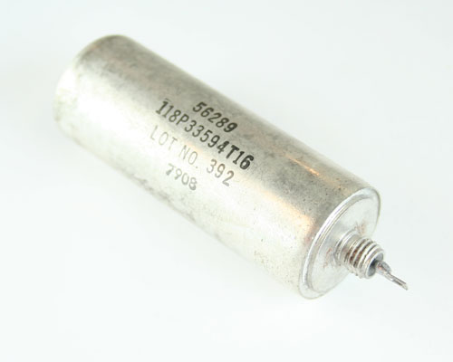Picture of 118P33594T16 SPRAGUE capacitor 3.3uF 400V Hermetic Metalized Paper Axial