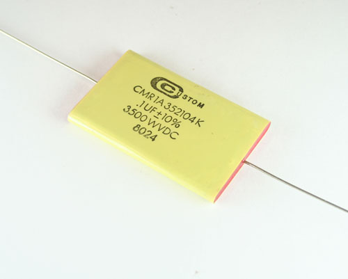 Picture of CMR1A352104K CUSTOM capacitor 0.1uF 3500V Film Polyester Axial