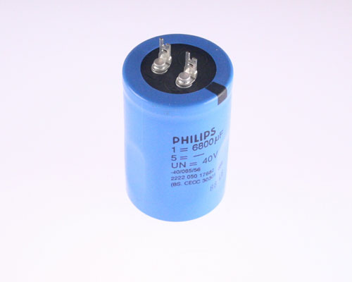 Picture of 2222-050-17682 PHILIPS capacitor 6,800uF 40V Aluminum Electrolytic Radial