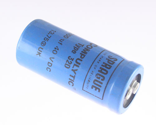 Picture of 32D212G040AB2B SPRAGUE capacitor 2,100uF 40V Aluminum Electrolytic Large Can Computer Grade