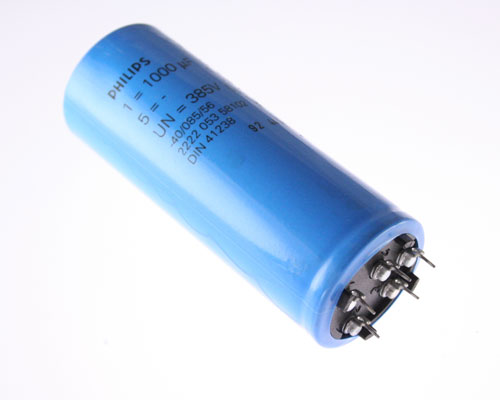 Picture of 2222-053-58102 PHILIPS capacitor 1,000uF 385V Aluminum Electrolytic Snap In