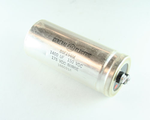 Picture of 86F194M GENERAL ELECTRIC capacitor 1,400uF 150V Aluminum Electrolytic Large Can Computer Grade