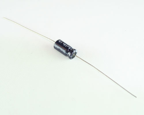 Picture of EA106M50V6X1285 NICHICON capacitor 10uF 50V Aluminum Electrolytic Axial