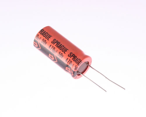 Picture of 503D447M050 SPRAGUE capacitor 470uF 50V Aluminum Electrolytic Radial