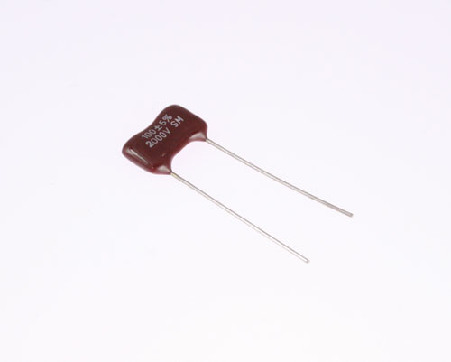 Picture of DM101J2000V BYAB capacitor 100pF 2000V Silver Mica Dipped