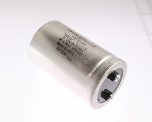 Picture of 92F155AMA GENERAL ELECTRIC capacitor 51,000uF 15V Aluminum Electrolytic Large Can Computer Grade
