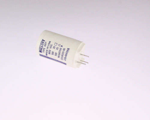 Picture of CGE501M351.1X1.6 MALLORY capacitor 500uF 35V Aluminum Electrolytic Large Can Twist Lock