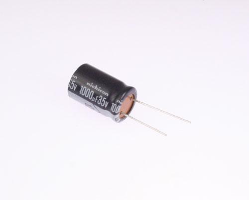 Picture of ULB1V102MKA NICHICON capacitor 1,000uF 35V Aluminum Electrolytic Radial