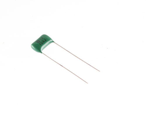 Picture of RM104J100V SAMHWA capacitor 0.1uF 100V Film Radial