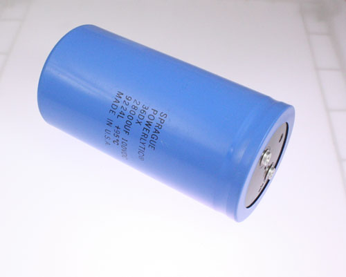 Picture of 36D283G100DF2A SPRAGUE capacitor 28,000uF 100V Aluminum Electrolytic Large Can Computer Grade High Temp