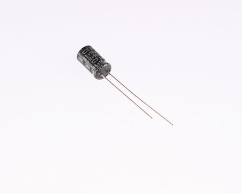 Picture of ER106T25V6X11-85 UCC capacitor 10uF 25V Aluminum Electrolytic Radial