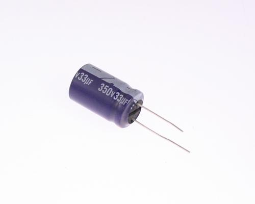 Picture of ER336M350V16X26-105 ELGEN capacitor 33uF 350V Aluminum Electrolytic Radial