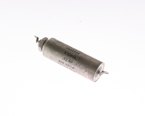 Picture of FV6E334 FILTRON capacitor 0.33uF 400V Hermetic Metalized Paper Axial