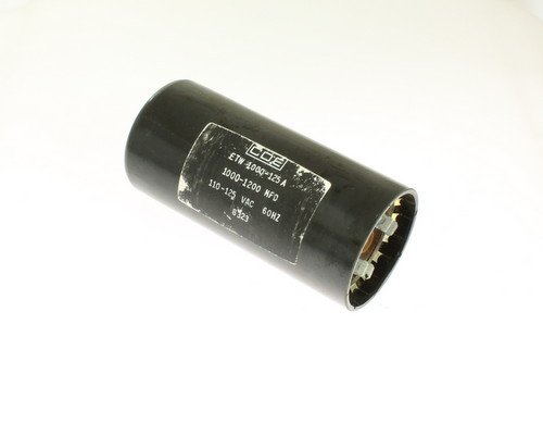 Picture of ETW1000-125A Cornell Dubilier (CDE) capacitor 1,000uF 125V Application Motor Start