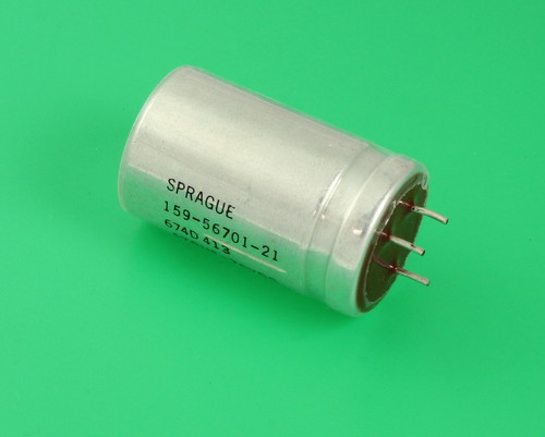 Picture of 674D477H075JJ5A SPRAGUE capacitor 470uF 75V Aluminum Electrolytic Radial High Temp