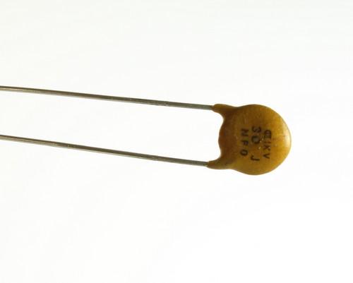 Picture of CD300J1KV.3NPO BYAB capacitor 30pF 1000V Ceramic Disc