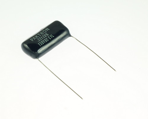 Picture of 224MACEVL PAKTRON capacitor 0.22uF 150V Film Polyester Radial