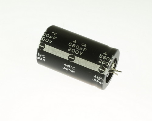 Picture of ECET2DR561SW PANASONIC capacitor 560uF 200V Aluminum Electrolytic Snap In
