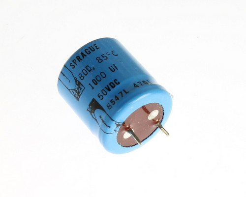 Picture of 80D102P050 SPRAGUE capacitor 1,000uF 50V Aluminum Electrolytic Snap In