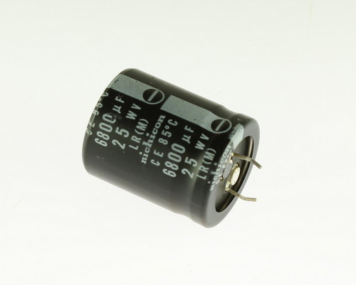 Picture of ER688M25V25X3085-SNAP NICHICON capacitor 6,800uF 25V Aluminum Electrolytic Snap In