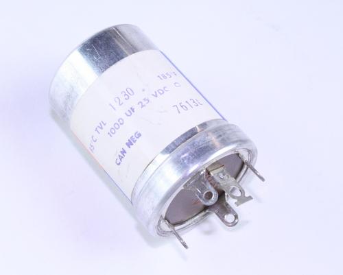 TVL-1230 Sprague Capacitor 1,000uF 25V Aluminum Electrolytic Can Twist Lock X 2